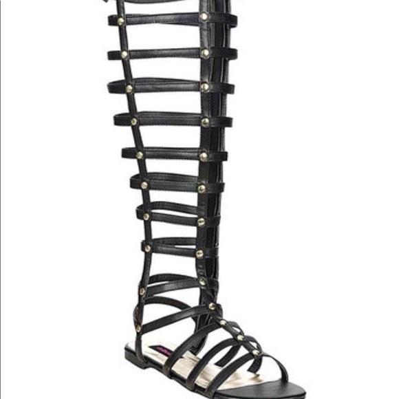 860615ddd81b NEW tall gladiator sandals bamboo 10  58 black
